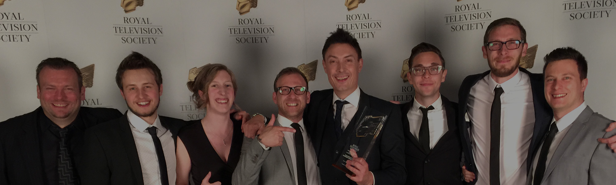 A win for Motiv at the Royal Television Society Awards 2016