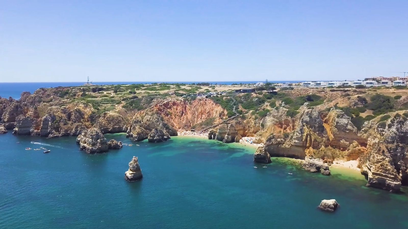 Algarve coastline from the air