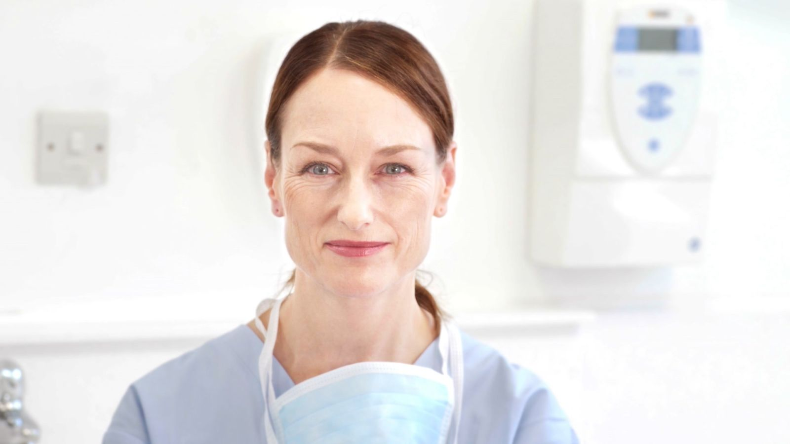 female dentist in the surgery