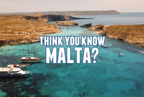 aerial shot of a Maltese coastline