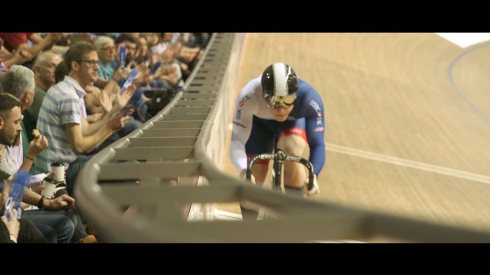 cyclist in a velodrome